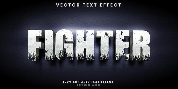 Efeito de texto editável do lutador