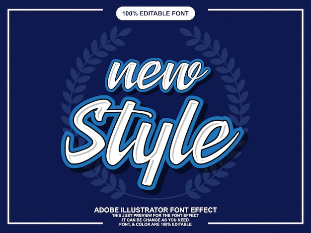 Efeito de texto editável do novo script de estilos