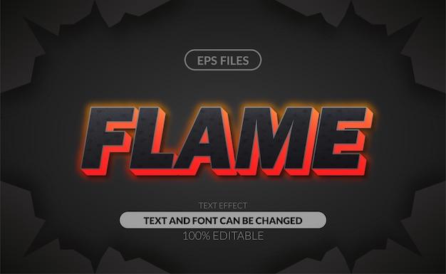 Efeito de texto editável do perigo da pedra da chama da textura 3d.