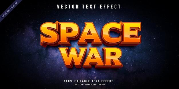 Efeito de texto editável do space war