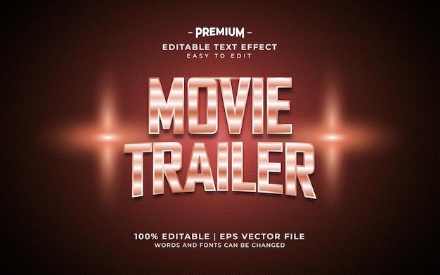 Efeito de texto editável do trailer do filme