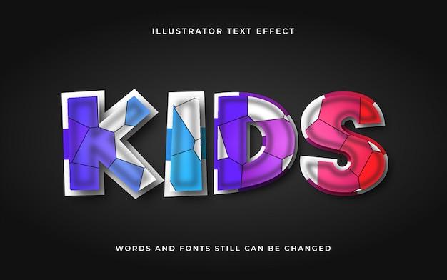 Efeito de texto editável dos desenhos animados modernos
