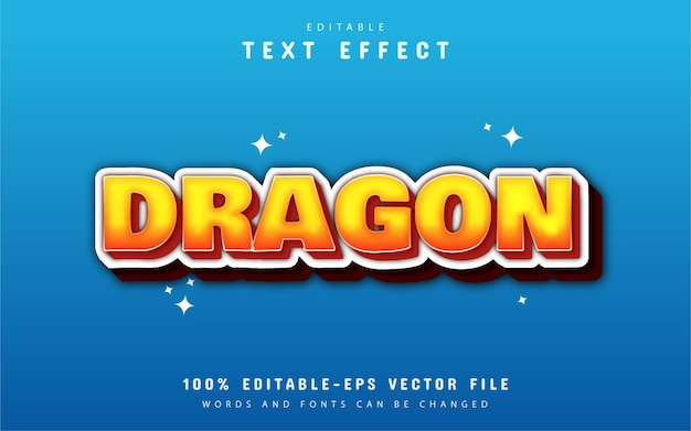 Efeito de texto editável - dragão