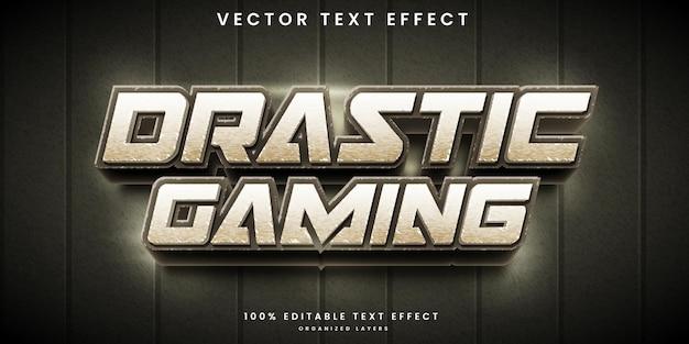 Efeito de texto editável drástico em jogos