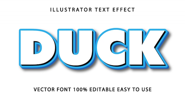 Efeito de texto editável duck
