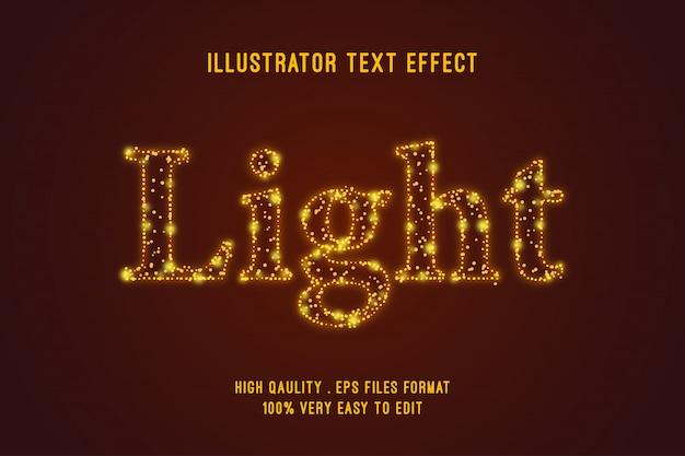 Efeito de texto editável - efeito de brilho de contorno claro