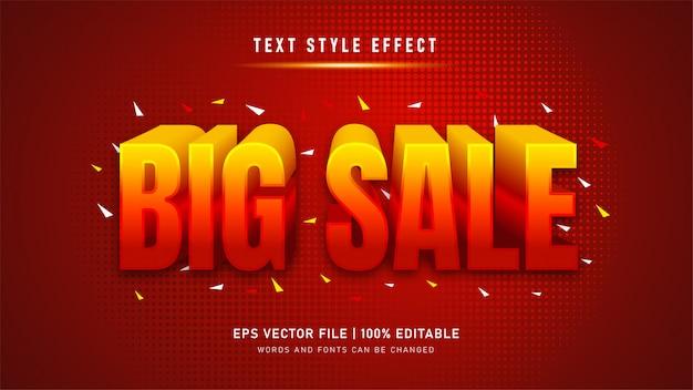 Efeito de texto editável. efeito de estilo de texto de grande venda