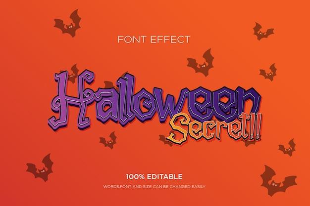 Efeito de texto editável efeito de texto 3d halloween para tittle free vector