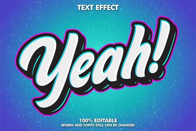 Efeito de texto editável efeito de texto de adesivo de graffiti moderno