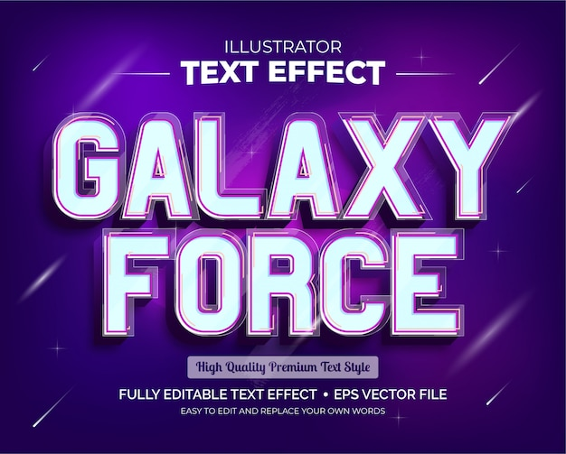 Efeito de texto editável - efeito de texto galaxy force