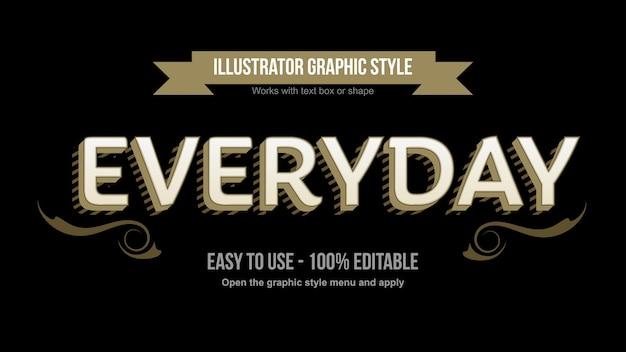 Efeito de texto editável elegante vintage personalizado