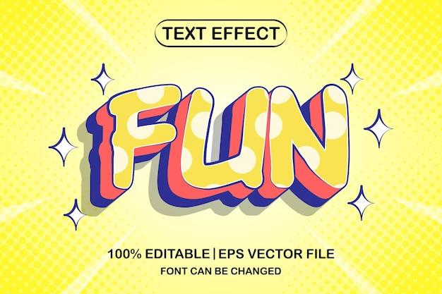Efeito de texto editável em 3d divertido