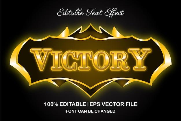 Efeito de texto editável em 3d do victory gaming