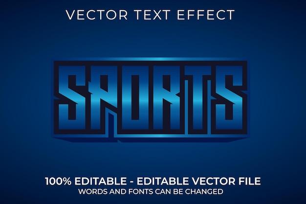 Efeito de texto editável em 3d esportivo