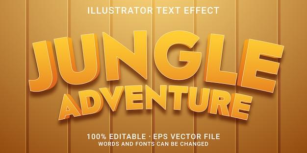 Efeito de texto editável em 3d - estilo jungle adventure