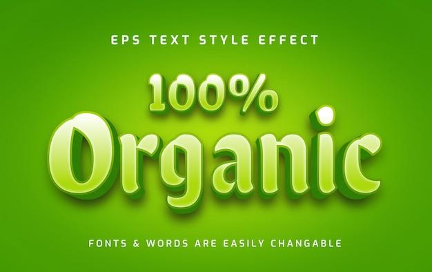 Efeito de texto editável em 3d fresco, verde e orgânico