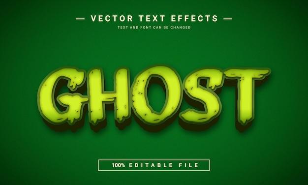 Efeito de texto editável em 3d ghost estilo morto e assustador
