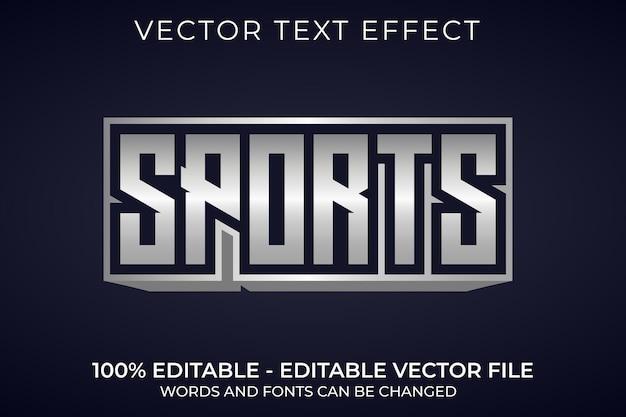 Efeito de texto editável em 3d metálico esportivo