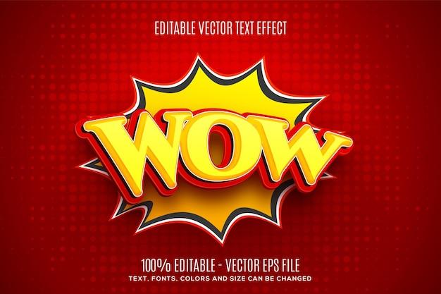 Efeito de texto editável em 3d wow speech bubble fácil de alterar ou editar