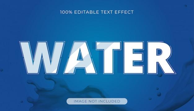 Efeito de texto editável em água
