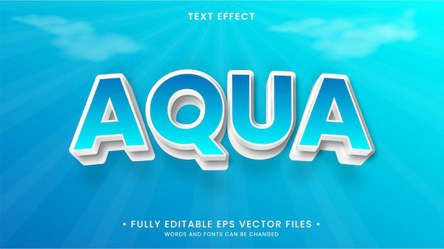 Efeito de texto editável em azul aqua