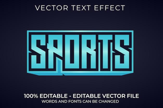 Efeito de texto editável em azul esportivo