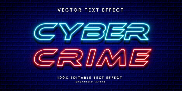 Efeito de texto editável em crimes cibernéticos