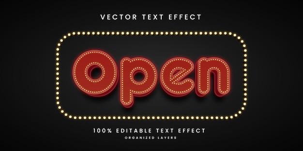 Efeito de texto editável em estilo cack premium
