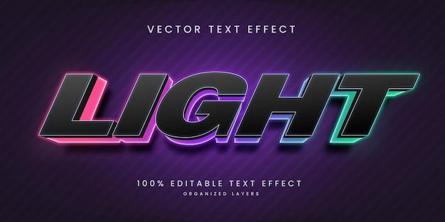 Efeito de texto editável em estilo claro
