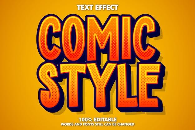 Efeito de texto editável em estilo cômico