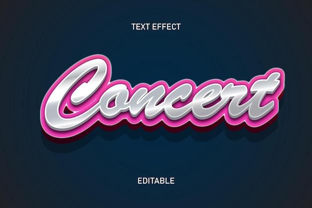 Efeito de texto editável em estilo concerto cromado