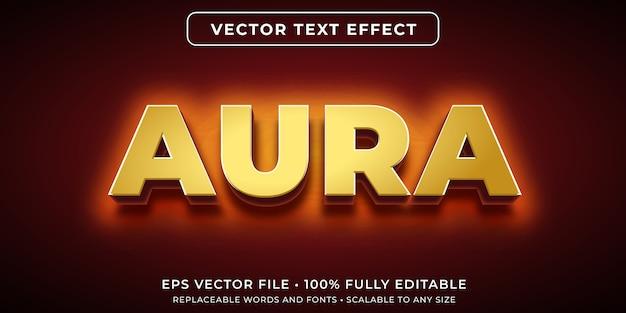 Efeito de texto editável em estilo de aura brilhante