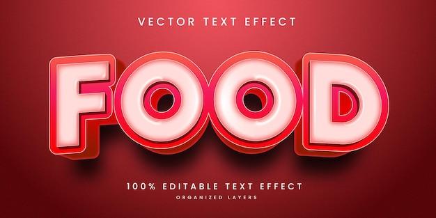 Efeito de texto editável em estilo de comida