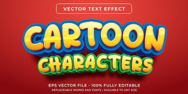 Efeito de texto editável em estilo de desenho animado