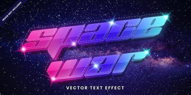 Efeito de texto editável em estilo de guerra espacial
