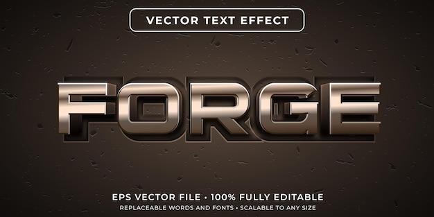 Efeito de texto editável em estilo de metal forjado