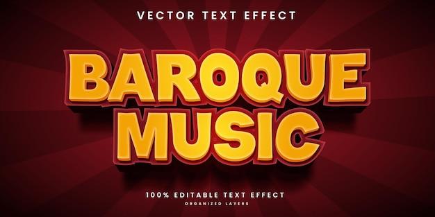 Efeito de texto editável em estilo de música barroca
