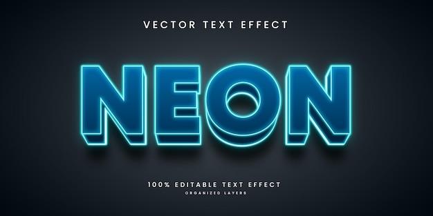 Efeito de texto editável em estilo neon