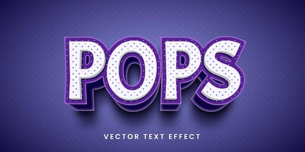 Efeito de texto editável em estilo pop