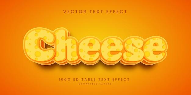 Efeito de texto editável em estilo queijo