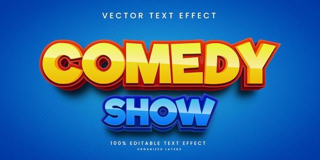 Efeito de texto editável em estilo show de comédia