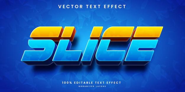 Efeito de texto editável em fatias com cores gradientes
