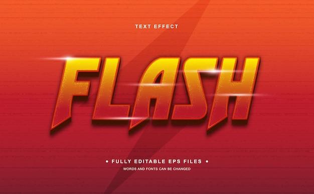 Efeito de texto editável em flash