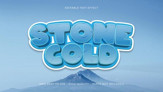 Efeito de texto editável em gelo