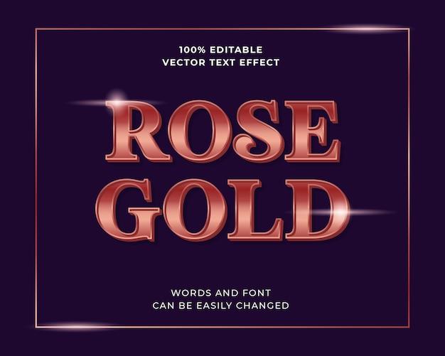 Efeito de texto editável em gradiente brilhante rosa dourado