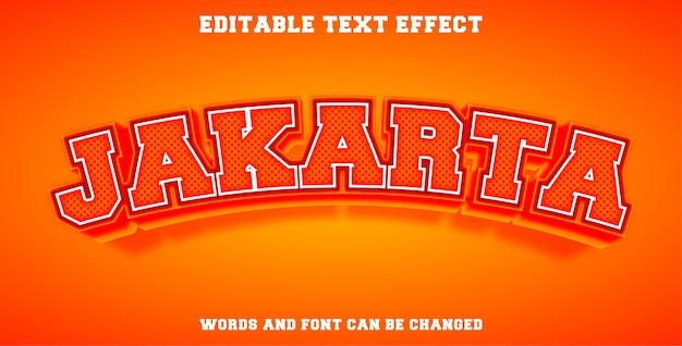 Efeito de texto editável em jacarta