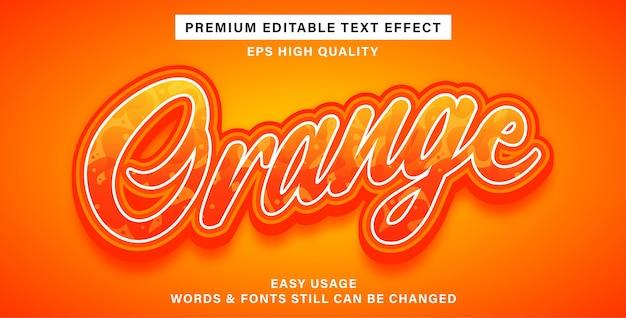 Efeito de texto editável em laranja