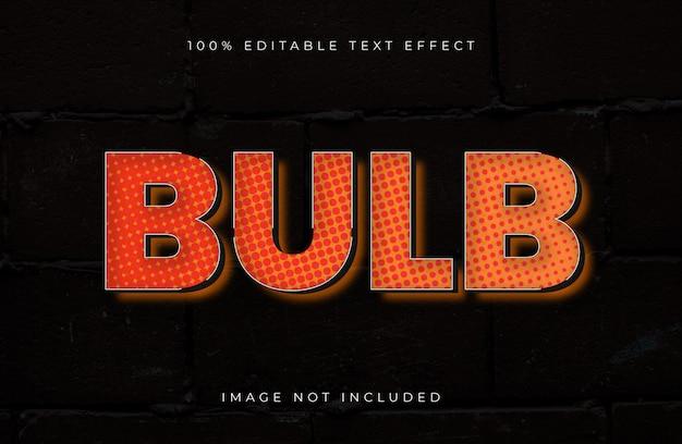 Efeito de texto editável em meio-tom do bulbo