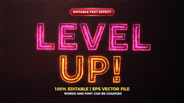 Efeito de texto editável em negrito com alerta elétrico de alerta de nível superior