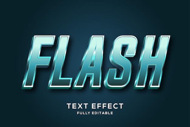 Efeito de texto editável em negrito metálico futurista